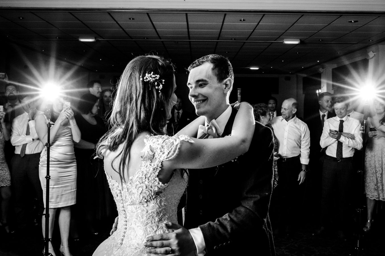 Bride-and-groom-first-dance-dunkenhalgh-hotel