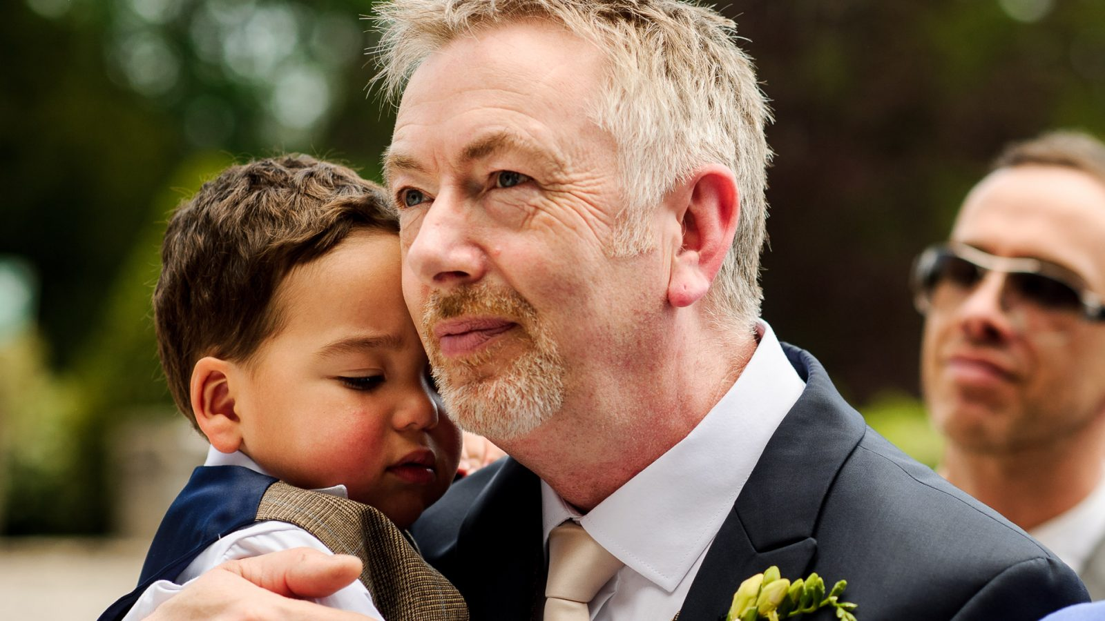 Eaves_Hall_wedding_ceremony_bride_and_grooms_son_with_grandad